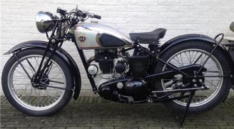 Bsa b21 deluxe 250cc Kopklepper uit 1939