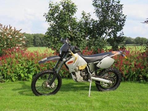 KTM 520 EXC offroad crossmotor met kenteken